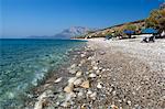 Balos beach and Mount Kerketeas, Ormos Koumeikon, Samos, Aegean Islands, Greece