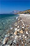 Balos beach et Mount Kerketeas, Ormos Koumeikon, Samos, îles de l'Égée, Grèce