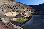 Lagune und Lava Klippen, El Golfo, Lanzarote, Kanarische Inseln, Spanien