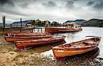 Keswick lancement de bateaux, Derwent Water, Parc National de Lake District, Cumbria, Angleterre