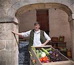 Chariot de roue de fermier de légumes