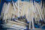 Stapel der forensischen DNA-Tupfer-Rohre