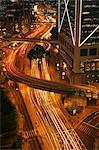 Vue de laps de temps du trafic urbain