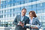 Business People using Tablet PC, Niederrad, Frankfurt, Germany