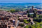 Vue d'ensemble de la ville de Santa Maria del Servi, Sienne, Toscane, Italie