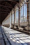Arcade in Camposanto Monumentale, Piazza del Duomo, Pisa, Tuscany, Italy