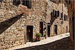 Rue à Montefioralle, Chianti, Toscane, Italie