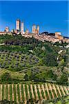 San Gimignano and Farmland, Siena Province, Tuscany, Italy