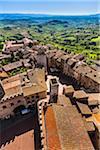 Overview of San Gimignano, Siena Province, Tuscany, Italy