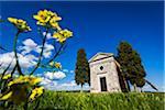 Church of Madonna di Vitaleta, San Quirico d'Orcia, Province of Siena, Tuscany, Italy