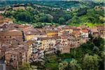 Vue d'ensemble de San Miniato, Province de Pise, Toscane, Italie