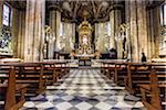 Interior of Arezzo Cathedral, Arezzo, Tuscany, Italy