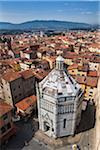 Baptistery in Piazza del Duomo, Pistoia, Tuscany, Italy