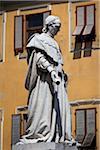 Statue of Niccolo Forteguerri in Piazza dello Spirito Santo, Pistoia, Tuscany, Italy