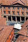 Aerial View of Outdoor Cafe, Bologna, Emilia-Romagna, Italy