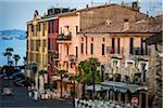 Küsten Gebäude, Sirmione, Brescia, Lombardei, Italien