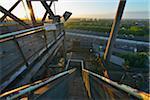 Staircase, Landschaftspark Duisburg Nord, Meiderich Huette, Duisburg, Ruhr Basin, North Rhine-Westphalia, Germany