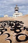Cape Recife lighthouse, Cape Recife, Port Elizabeth, Eastern Cape, South Africa