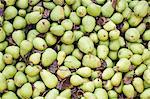 Full-Frame-Bild von frischen grünen Birnen