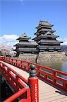 Le château de Matsumoto, préfecture de Nagano, Japon