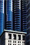 Contraste de vieux et nouveaux bâtiments Downtown, Vancouver, Colombie-Britannique, Canada