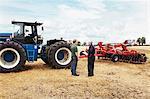 Agriculteurs de parler dans le domaine de la culture