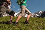 Füße Wandern paar