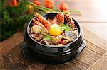 Korean food, Sundubujjigae with seafoods