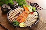 Korean food, Pork, Kimchi and Sushi