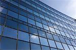 Glass facade, Frankfurt - Main, Hesse, Germany