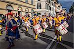Marching Band, Scoppio del Carro, Explosion du Festival Cart, dimanche de Pâques, Florence, Province de Florence, Toscane, Italie