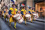 L'Explosion de la fête du panier (Scoppio del Carro), dimanche de Pâques, Florence, Italie