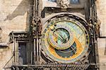 Detail of the astronomical clock in Prague, Czech republic.