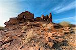 Wupatki National Monument sur le Plateau du Colorado en Arizona