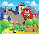 Donkey theme image 2 - vector illustration.