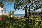 Maisons de bord de mer avec vue sur l'océan, Provincetown, Cape Cod, Massachusetts, USA