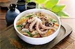 Korean food, Kalguksu with seafoods