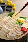Raw skate sushi
