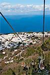 """The chairlift """" Seggiovia"""" to Monte Solaro."""