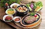Set of Korean food