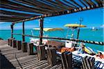 Parasailing Boat Docked at Pelican Pier, Palm Beach, Aruba, Leeward Antilles, Lesser Antilles, Caribbean