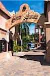 Archway to Paseo Herencia Shopping Center, Palm Beach, Aruba, Leeward Antilles, Lesser Antilles, Caribbean
