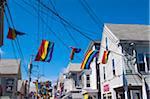 Rainbow Flags, Provincetown, Cape Cod, Massachusetts, USA