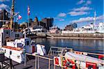 Boats in Harbor and City Skyline, Halifax, Nova Scotia, Canada