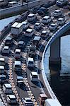 Traffic congestion on the Hanshin Expressway, Osaka