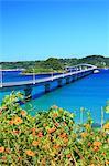 Tsunoshima Bridge in Shimonoseki, Yamaguchi Prefecture