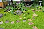 Jardin japonais traditionnel à Takayama, préfecture de Gifu
