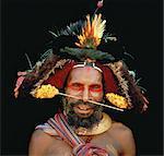 Portrait of Huli Wigman Papua New Guinea