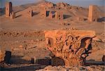 Les ruines de grès sculpté ruines de Palmyre, Syrie
