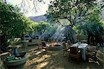 Outdoor Dining Area at Lodge Serengeti, Tanzania, Africa